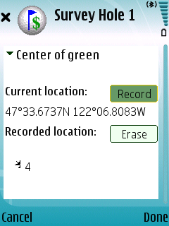 GPS Survey Screen