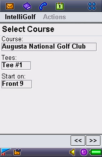 Choose Course Screen.