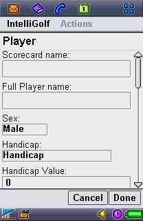 Choose Player Screen.