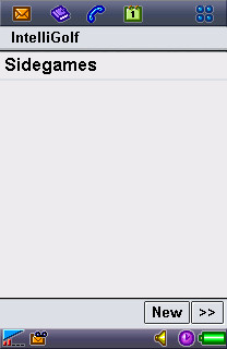 Choose Sidegames Screen.