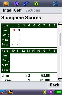 Sidegames Details Screen.